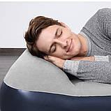 Двухспальная надувная кровать Bestway 67692 Tritech со встроенным электрическим насосом и фирменной сумкой для хранения 203 х 193 х 56 см Синяя, фото 3