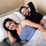 Двухспальная надувная кровать Bestway 67692 Tritech со встроенным электрическим насосом и фирменной сумкой для хранения 203 х 193 х 56 см Синяя, фото 10