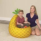 """Детское надувное кресло Bestway 75066 Fruit Kiddie """"Ананнас"""" (72х72х89 см.), фото 3"""