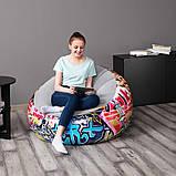 Крісло надувне, флокіроване, Bestway 75075 Comfort Cruiser Inflate-A-Chair (112х112х66 см.), фото 2