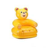 """Надувное детское кресло Intex 68556 Happy Animal """"Медвежонок"""" (64х65х74 см.), фото 3"""