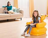 """Надувное детское кресло Intex 68556 Happy Animal """"Медвежонок"""" (64х65х74 см.), фото 6"""
