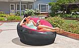 Надувное флокированное кресло Intex 68582 Empaire Chaire 112 х 109 х 69 см Розовое, фото 5