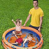 """Надувной детский бассейн с ненадувным дном, Bestway 93403 """"Hot Weels"""" (122х25 см.) объём 140 л., фото 5"""