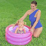 Надувной детский открытый бассейн с ненадувным дном Bestway 51033 (70х30см.) объем 43 л., фото 4