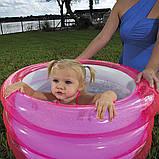 Надувной детский открытый бассейн с ненадувным дном Bestway 51033 (70х30см.) объем 43 л., фото 5