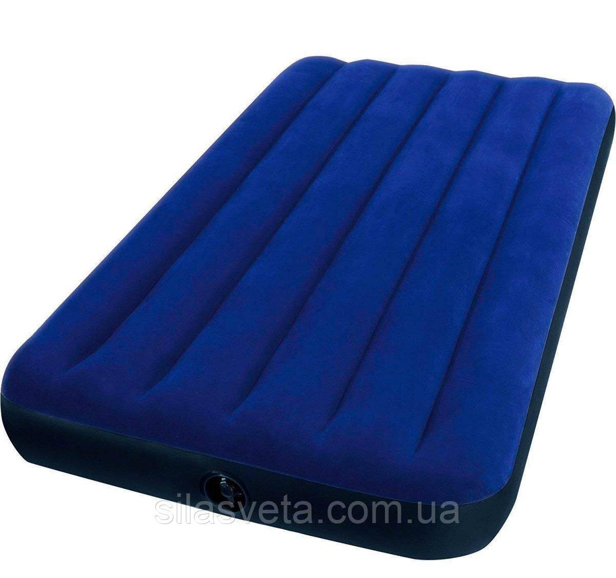 Надувной одноместный матрас Intex 68757  Classic Downy Bed (76х191x22 см.)