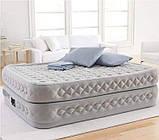 Надувная двухместная кровать со встроенным насосом Intex 64490-3 (152x203x51) +подушки, наматрасник, фото 4