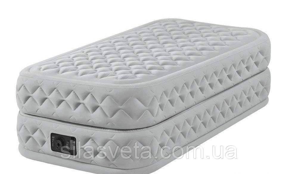 Надувная одноместная кровать со встроенным электронасосом Intex 64462 (99x191x51 см.)