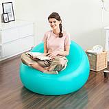 Классическое надувное кресло (флокированное) Bestway 75081 Comfort Cruiser (107х105х61см.), фото 7