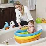 Надувной детский бассейн с термометром и надувным дном 51134 (76х48х33 см.), фото 7