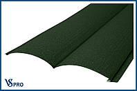 Сайдинг фасадный металлический Блок-Хаус, RAL 6020 Цвет Хромовый зеленый (матовый).