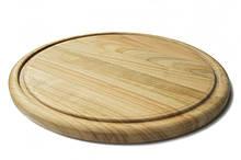 Дошка кухонна, дошка для піци Ø30см двохстороння Energy Wood, дерев'яна черешня