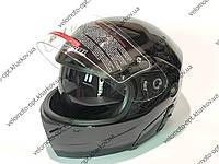 Шлем Jiekai черный глянец трансформер, Night Rider М 57-58 см
