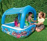 Надувной детский бассейн с навесом Bestway 52192 (147х147х122см.) объём 265 л. + 10 шариков, фото 6