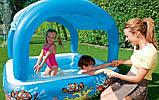 Надувной детский бассейн с навесом Bestway 52192 (147х147х122см.) объём 265 л. + 10 шариков, фото 7