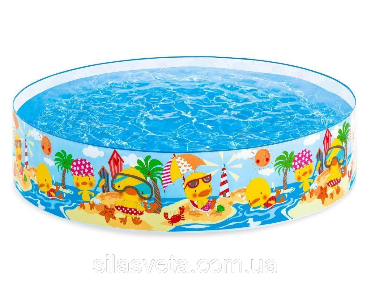 """Детский каркасный бассейн Intex 58477 """"Утиный риф"""" (122х25 см.) объем 218 л."""