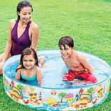"""Детский каркасный бассейн Intex 58477 """"Утиный риф"""" (122х25 см.) объем 218 л., фото 2"""