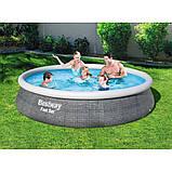 Надувной круглый бассейн Bestway 57376 (396х84 см.) объём 7340 л. + фильтр-насос (2006 л/ч), фото 2