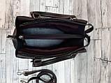 Стильная Женская сумка ZARA Зара из экокожи . Черная с красным, фото 2