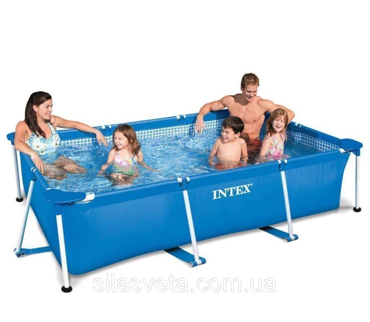 Каркасный семейный бассейн Intex 28271 (260х160х65 см.) объем 2882 л. + подстилка и тент.