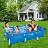 Каркасный семейный бассейн Intex 28271 (260х160х65 см.) объем 2882 л. + подстилка и тент., фото 3