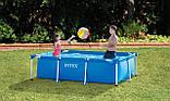 Каркасный семейный бассейн Intex 28271 (260х160х65 см.) объем 2882 л. + подстилка и тент., фото 4