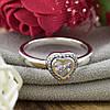 Серебряное кольцо ТС510290 вставка белые фианиты вес 3.0 г размер 18.5, фото 8