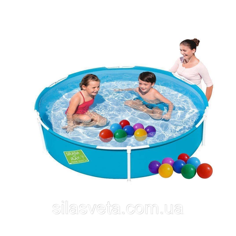 Детский каркасный бассейн Bestway 56283-1, (152х38 см.) объём 689 л. + 10 шариков.
