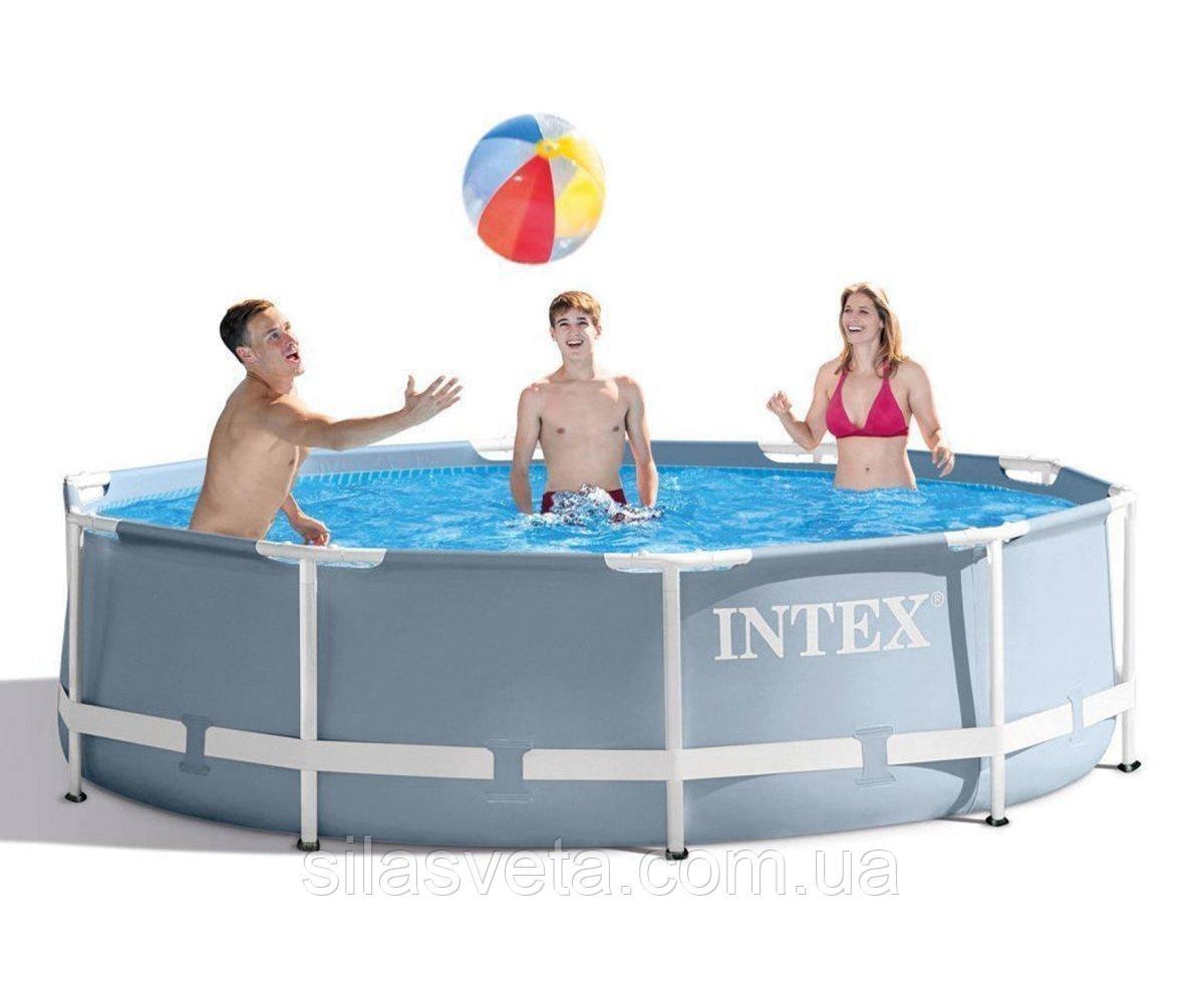 Каркасный круглый бассейн на полимерных соединителях, Intex 26700 (305х76см.) объём 4485 л.