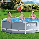 Каркасный круглый бассейн на полимерных соединителях, Intex 26700 (305х76см.) объём 4485 л., фото 2