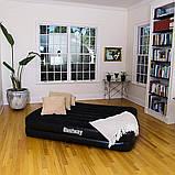 Надувная двухместная кровать со встроенным электронасосом Bestway 67403-2 (152х203х46 см.) + подушки, фото 9