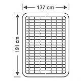 Надувная полуторная кровать Intex 64904-2 (137x191x46 см.) со встроенным насосом + две подушки, фото 7