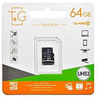 Карта памяти T&G microSDXC 64GB Class 10 UHS-I U3 (TG-64GBSDU3CL10-00)