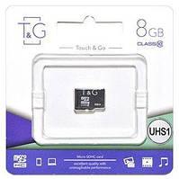 Карта памяти T&G microSDHC 8GB Class 10 UHS-I U1 (TG-8GBSD10U1-00)