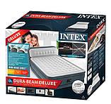 Надувная двухместная кровать со встроенным эл.насосом Intex 64448-2 (152х236х46 (86) см.) + подушки, фото 5