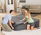 Надувная двухместная кровать со встроенным эл.насосом Intex 64448-2 (152х236х46 (86) см.) + подушки, фото 7