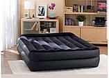 Надувная двухместная кровать с эл.насосом Intex 64124-3 (152х203х42 см.) + подушки, наматрасник, фото 6