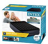 Надувная двухместная кровать с эл.насосом Intex 64124-3 (152х203х42 см.) + подушки, наматрасник, фото 8
