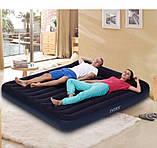 Надувной двухместный матрас Intex 64144-3 (183x203x25 см.) + насос, 2 подушки, наматрасник., фото 7