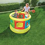 Детский надувной центр-манеж с игрушками, Bestway 52056 (152х107 см.), фото 3
