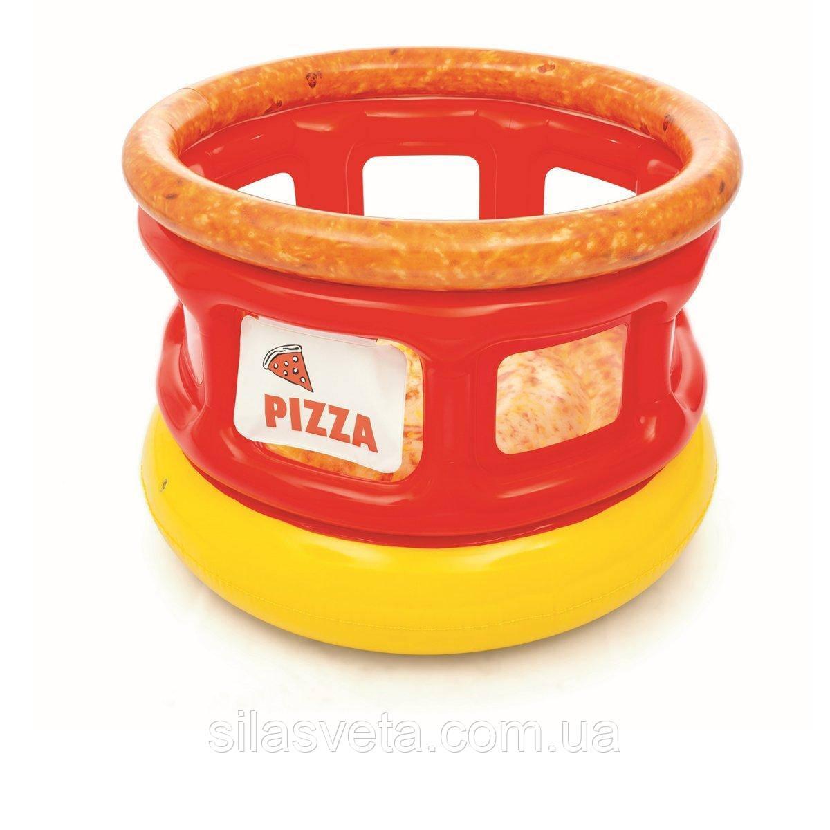 """Детский надувной игровой центр-бассейн Bestway 52279 """"Пицца"""" (155х109 см.)"""