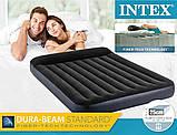 Надувной двухместный матрас Intex 64143-2 (152x203x25 см.) + подушки и ручной насос., фото 4