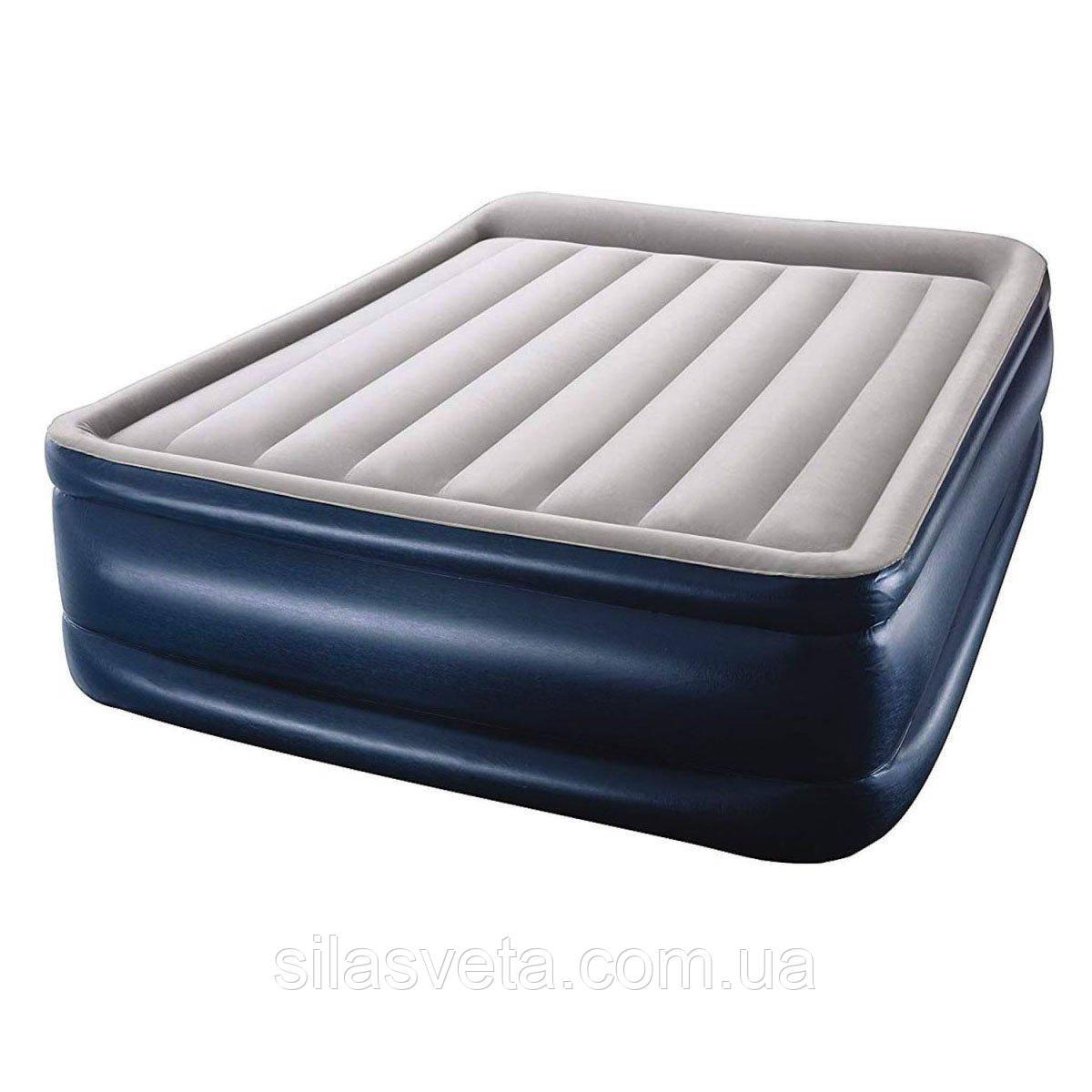 Надувная 2-х спальная кровать Bestway 67614 Tritech Airbed (203x152x56см)с электронасосом +2 подушки