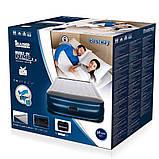 Надувная 2-х спальная кровать Bestway 67614 Tritech Airbed (203x152x56см)с электронасосом +2 подушки, фото 3