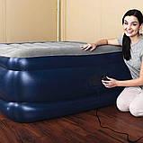 Надувная 2-х спальная кровать Bestway 67614 Tritech Airbed (203x152x56см)с электронасосом +2 подушки, фото 6