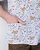 Медицинский мужской костюм Гранит принт Bear gray, фото 9