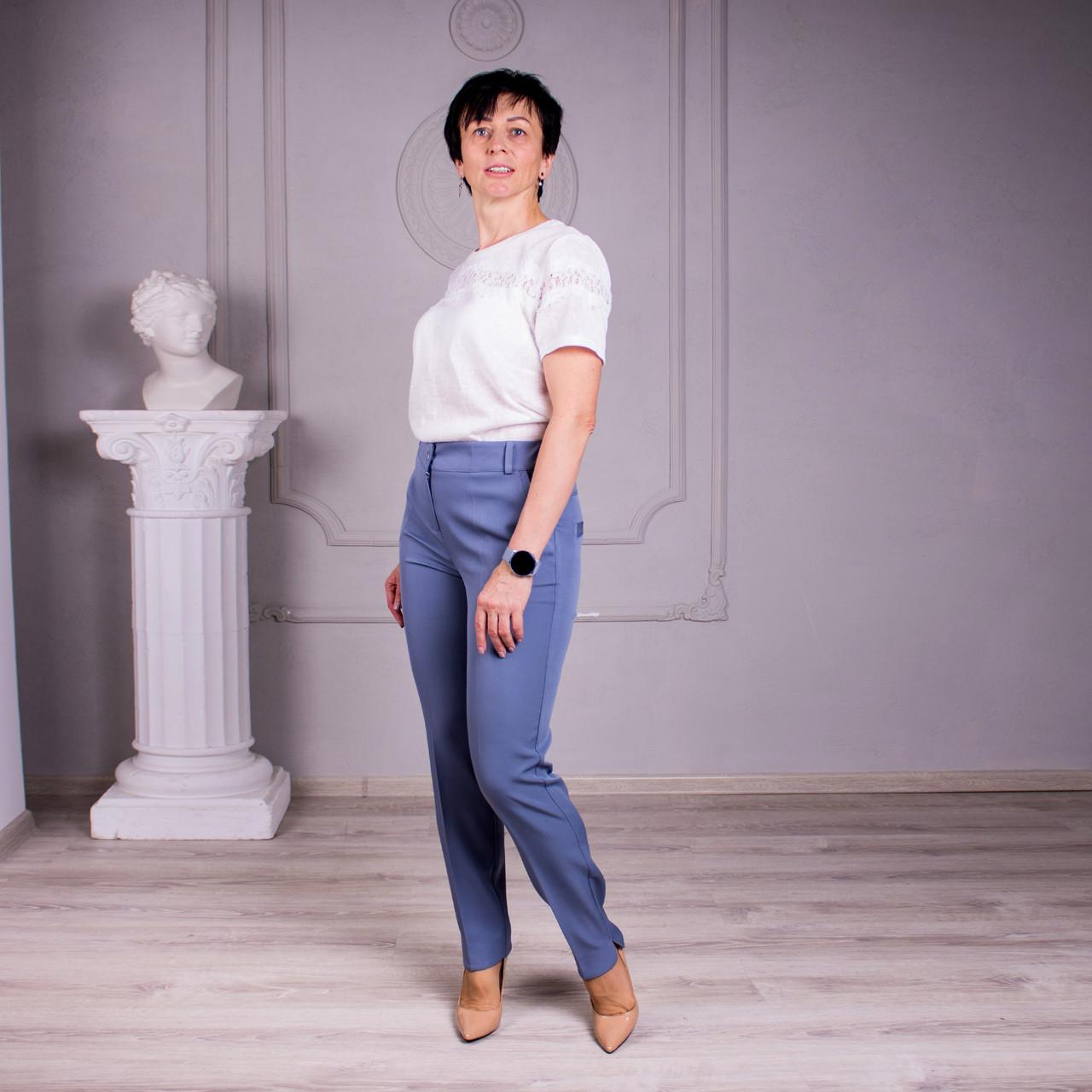 Женские брюки Салина цвет беж, серый, чёрный размер 46- 58