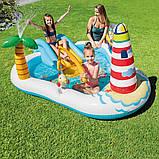 Надувной детский бассейн Intex 57162 «Веселая Рыбалка» с горкой, шариками и фонтаном 218х188х99 см., фото 5