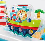 Надувной детский бассейн Intex 57162 «Веселая Рыбалка» с горкой, шариками и фонтаном 218х188х99 см., фото 6